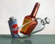 Compositie Brasso, Maggi, Flesje, olieverf/paneel, 60 X 75 cm