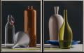 Tweeluik van een sextet Olieverf/linnen 2X 130 x 100 cm