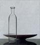 Compositie fles schaal, olieverf/paneel, 62 X 55 cm